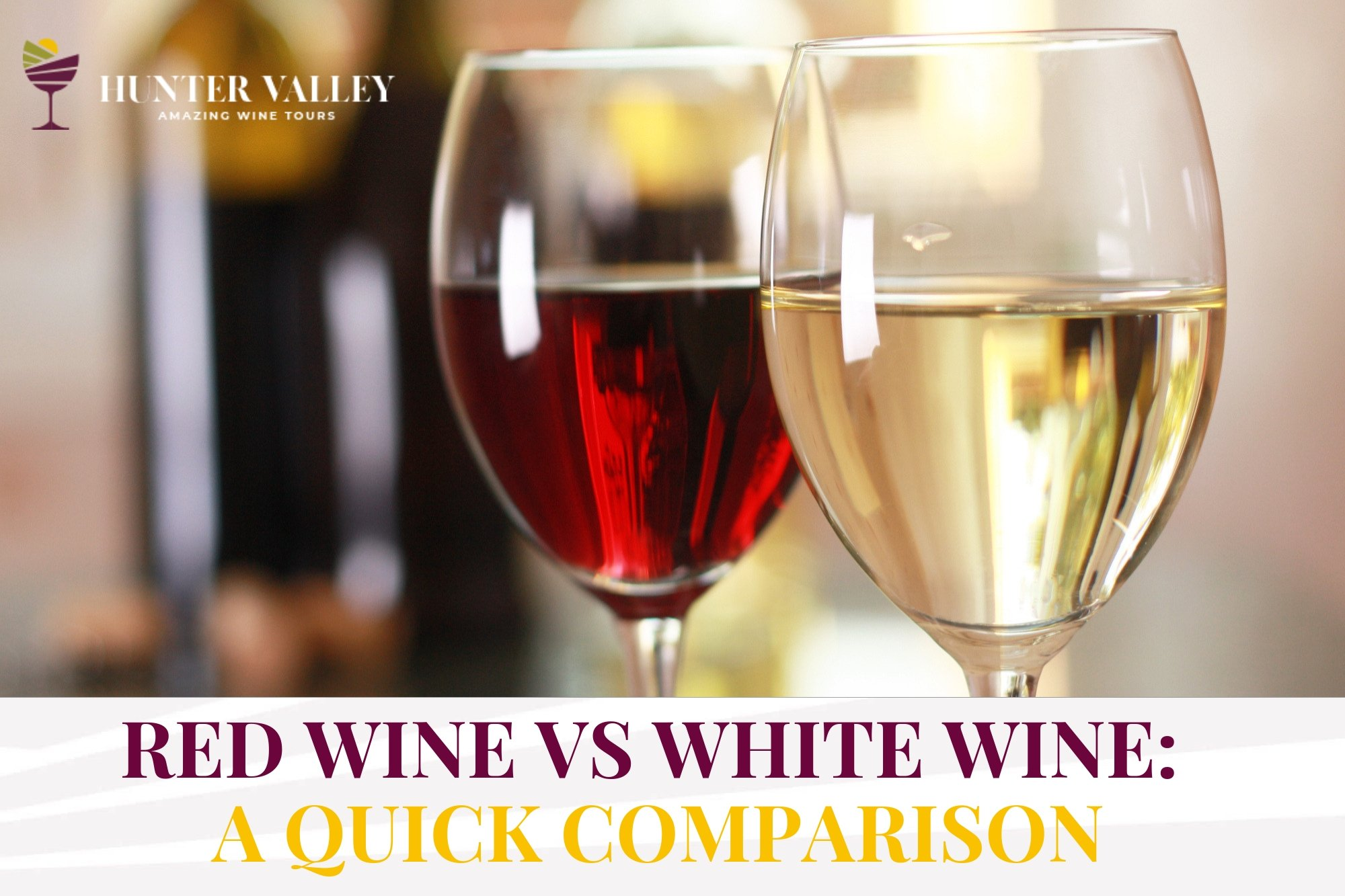 Red Wine vs White Wine: A Quick Comparison